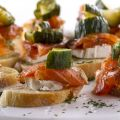 Bruschetta with Goat Cheese and Salmon