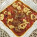 Cheese Tortellini Soup and Sausage