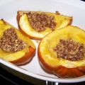 Acorn Squash With Spiced Brazil Nut Filling