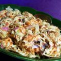 Coleslaw With Raisins and Sunflower Nuts