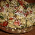 Pesto Tortellini Salad With Grape Tomatoes