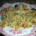 Scrambled Eggs With Scallions and Mushrooms