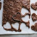CHOCOLATE CRISPY SUNFLOWER BUTTER HEARTS