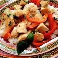 Spicy Chicken With Peppers and Basil
