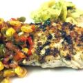 Halibut With Corn and Pepper Relish