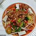 Mee Racun (Noodles in Red Lamb Soup)