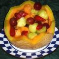 Fruit  Salad in a Cantaloupe Basket