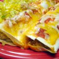 Cheesy Sausage and Egg Enchiladas