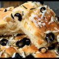 Focaccia Bread Herbed With Black Olive & Fresh[...]