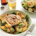Halibut and Peach Salad with Lemon-Mint[...]