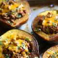 Turkey Chili Stuffed Acorn Squash