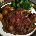 Braised Beef Shank with Wine and Tarragon