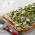 Caramelized Onion and Arugula Pizza