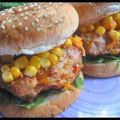Cheesy Chicken Burger W/ Corn & Carrot[...]