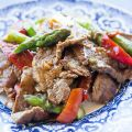 Flank Steak Stir Fry with Asparagus and Red[...]