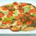 Basil Pesto Cherry Tomato Pizza