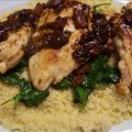 Balsamic Chicken With Baby Spinach