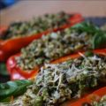 Pesto Rice Peppers