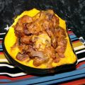 Acorn Squash Stuffed With Sausage and Sour Cream