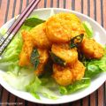 Deep Fried Prawns with Salted egg yolk