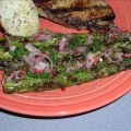 Grilled Asparagus With Peppercorn Vinaigrette