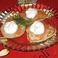 Smoked Salmon and Dill Blinis
