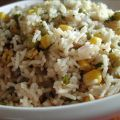 Basmati Rice With Corn and Peas (Rice Cooker)