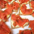 Smoked Salmon and Wasabi Tea Sandwiches