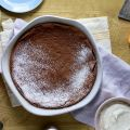 Chocolate Pudding Cake with Orange and Nutmeg