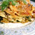 Lamb Sausage and Spinach Lasagna with Feta and[...]