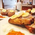 Banana Bread French Toast With Crème Fraîche