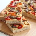 Focaccia with Roasted Garlic, Pickle Peppers[...]