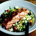 Grilled Salmon with Orzo, Feta, and Red Wine[...]