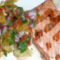 Grilled Salmon With Tangy Citrus Salsa