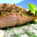 Baked Salmon With Lemon-Oregano Crumb Topping
