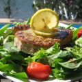 Grilled Tuna Steaks With Lemon-Pepper Butter