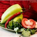 Green salsa made with green banana peppers[...]