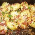 Roasted Potatoes With Bacon, Cheese, and Parsley