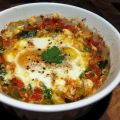 Baked Eggs With Tomato, Courgette & Capsicum.[...]