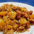 Butternut Squash, Rice and Sausage Casserole