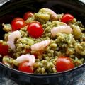 Pesto Farro With Cherry Tomatoes