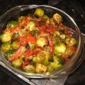 Brussels Sprouts and Red Pepper