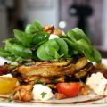 Grilled Zucchini Salad with Colorado Cherve,[...]