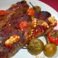 Pork Ribs With Garlic, Chilies and Tomato