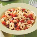 Cheese Tortellini with Fresh Tomato Sauce