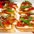 Bruschetta With Sweet Peppers and Fresh[...]
