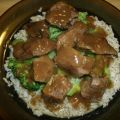 Braised Beef Tips over Rice