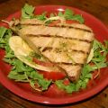 Grilled Tuna Steaks over Arugula Salad Recipe