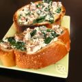 Italian Sausage Spinach and Ricotta Toasts
