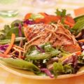 Grilled Salmon, Snap Peas and Spring Mix Salad[...]